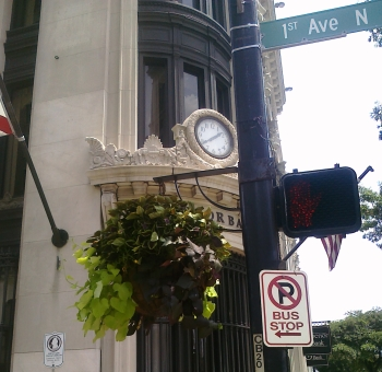 hanging baskets downtown