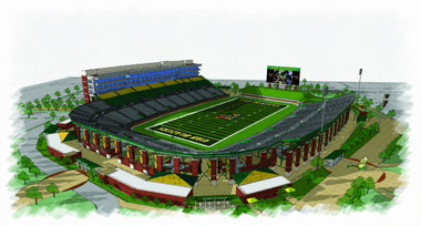 rendering of proposed UAB stadium