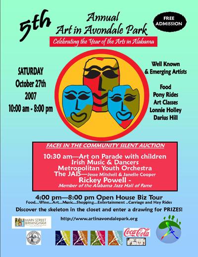 Art in Avondale Park poster