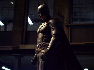 Christian Bale as Batman in The Dark Knight - official photo from Warner Bros.