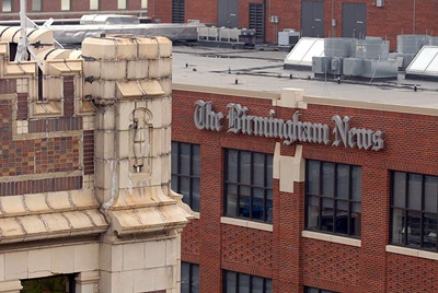 The old and new Birmingham News headquarters. Bob Farley/f8photo.